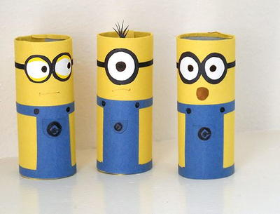 http://www.allfreekidscrafts.com/Recycled-Kids-Crafts/Cardboard-Tube-Minion-Crafts