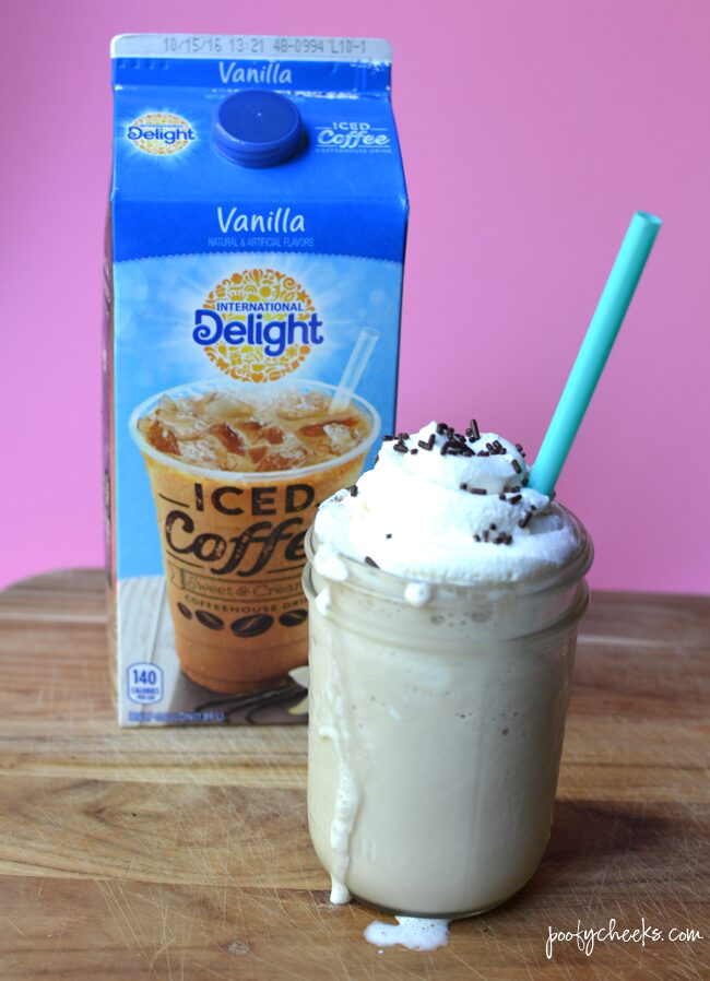 A refreshing summer coffee drink. Grab the recipe for a Vanilla Marshmallow Coffee Milkshake.
