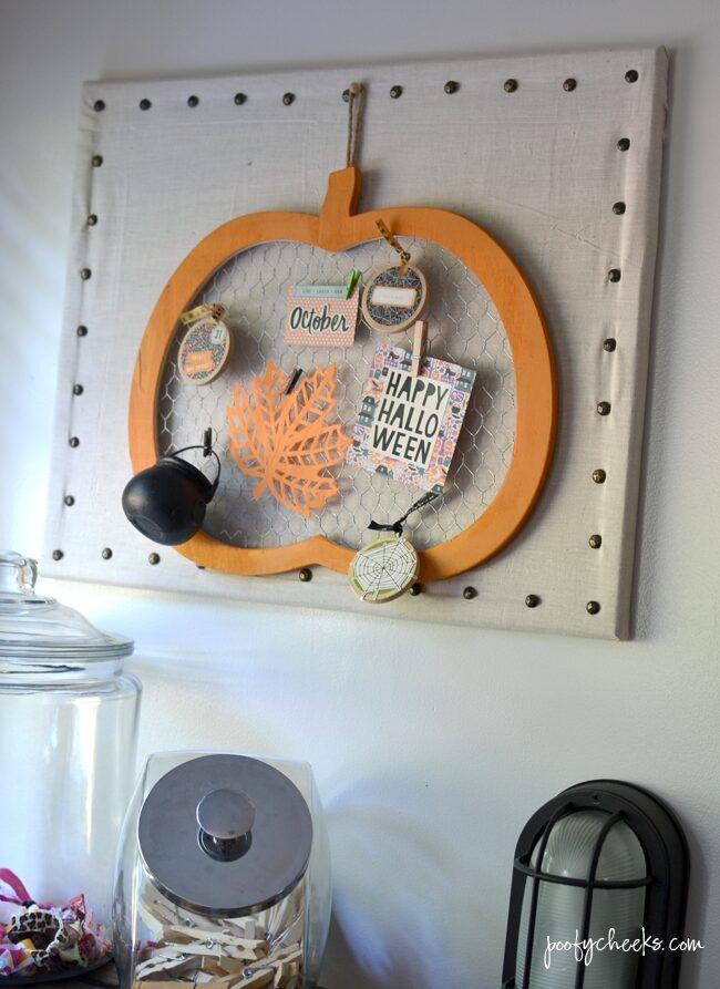 Decorated Halloween Chicken Wire Pumpkin