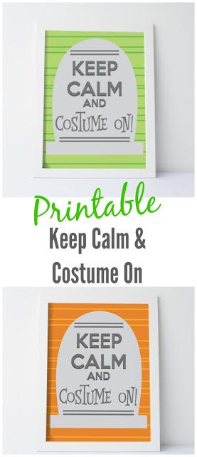 Printable: Keep Calm and Costume On