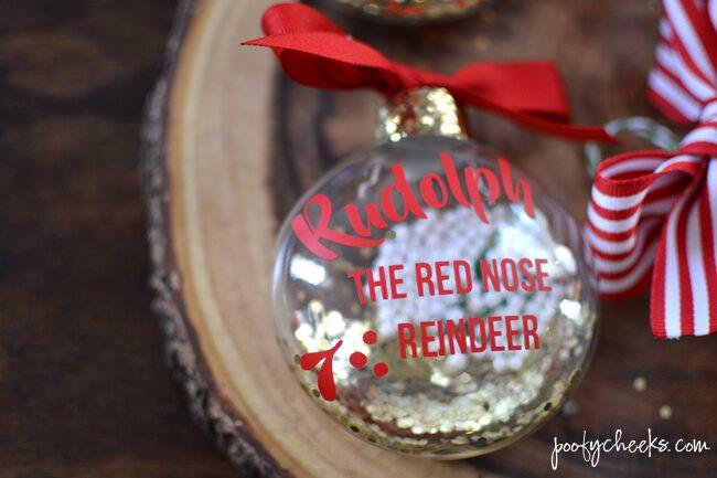 DIY Christmas Carol Ornaments with Silhouette