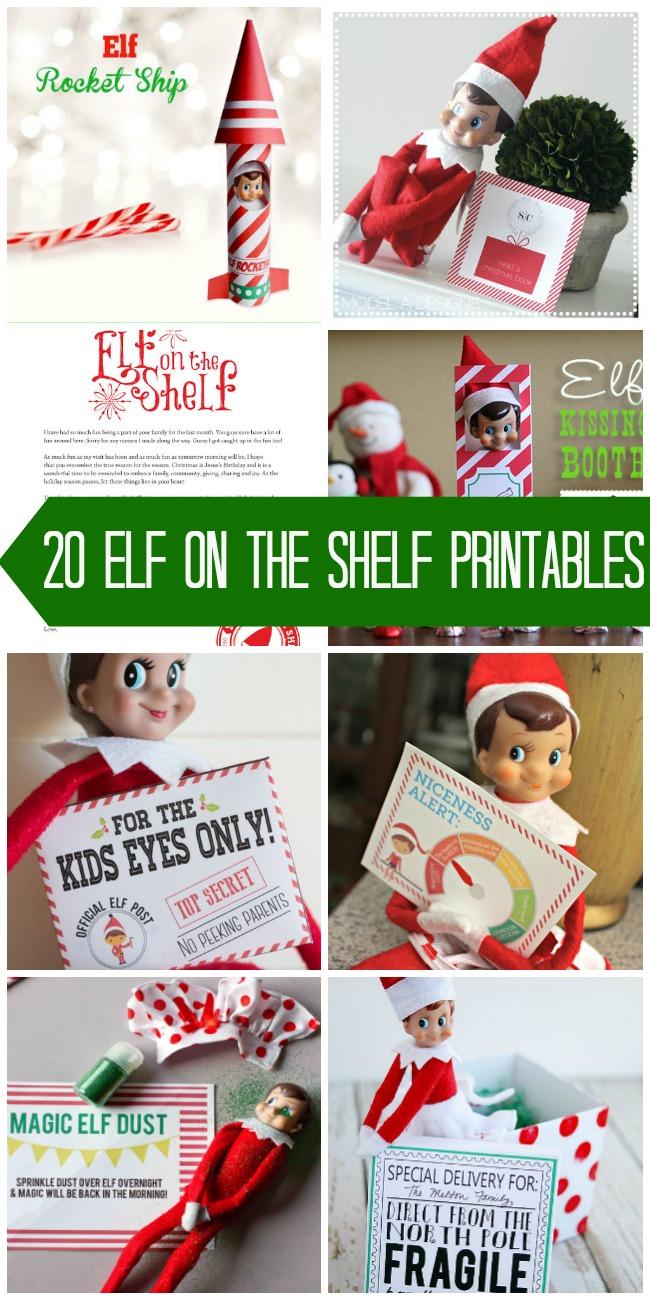 20+ Elf on the Shelf Printables