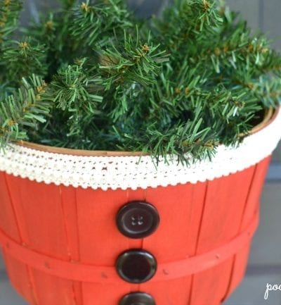 DIY – Easy Santa Basket Decoration