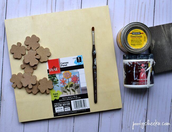 st patricks day clover specimen art
