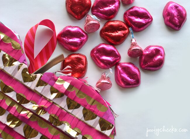 DIY Party Piñata for Valentine's Day