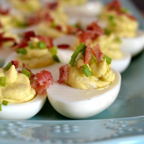 Instant Pot Ranch Deviled Eggs