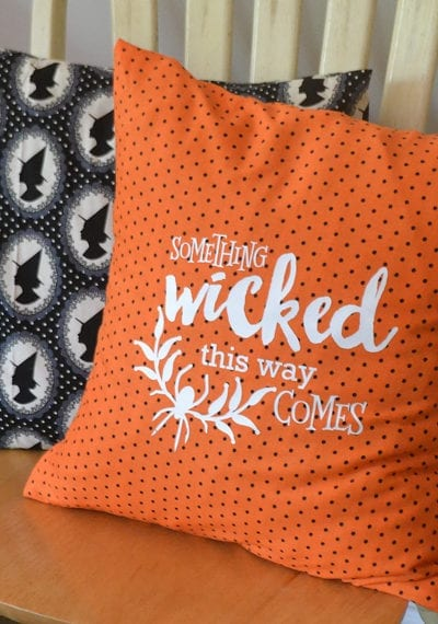 Sew a Halloween Pillow Cover with FREE Silhouette Cut File
