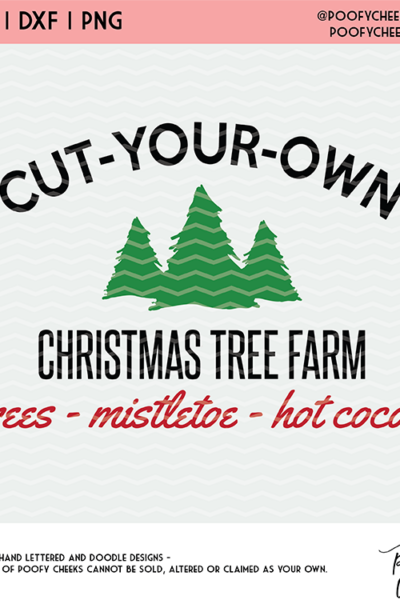 Christmas Tree Farm Sign with Free Cut File