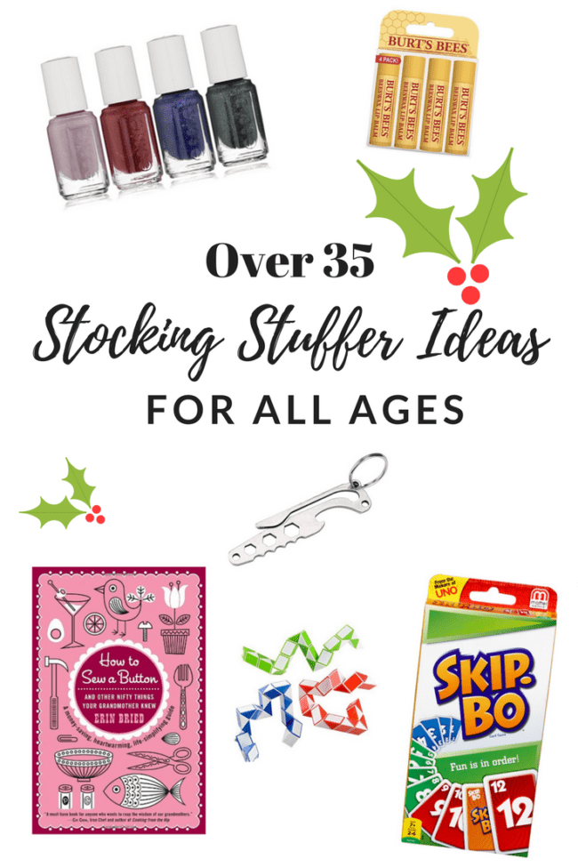 Over 35 Stocking Stuffers - Ideas for all ages.