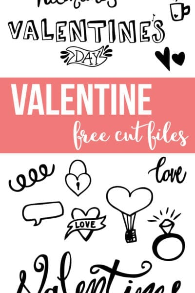Valentine's Cut Files – For Silhouette and Cricut Cutting Machines