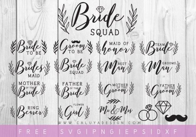 Wedding Party Cut Files