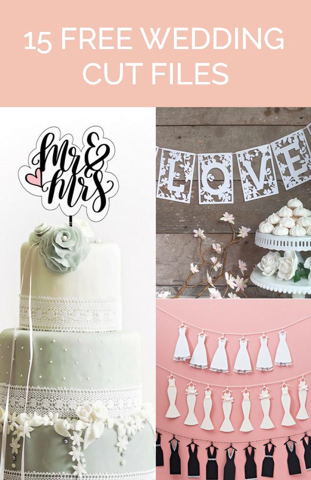 Wedding Cut Files | Poofycheeks.com