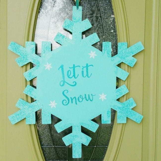 Apply adhesive vinyl to wooden shapes and signs for home decor and door hangers.