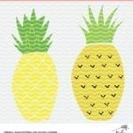 Pineapple Cut File Freebies for Silhouette Cameo and Cricut machine users. Download the PNG, SVG and DXF files plus get more free cut files at PoofyCheeks.com