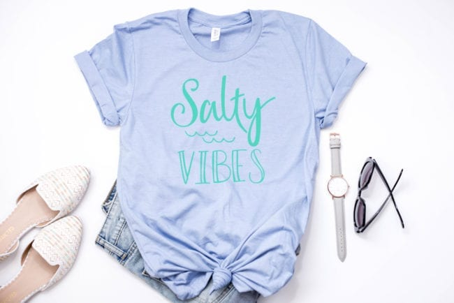 Salty Vibes design and cut file for Silhouette and Cricut cutting machines.