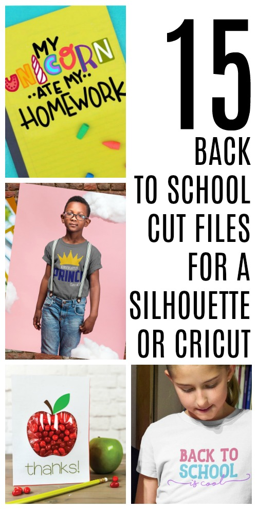 15 Back to School Cut Files - Free Cut Files for Silhouette and Cricut