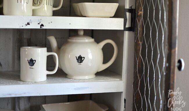 DIY Pie Safe - A dresser turned into a pie safe. Farmhouse style furniture.