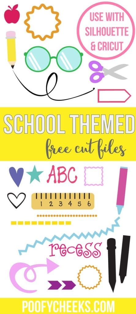 15 Back to School Cut Files for Silhouette and Cricut Machines from Poofycheeks.com