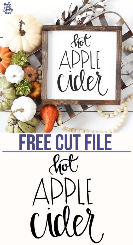 Hot Apple Cider Free Cut File for Silhouette and Cricut. PoofyCheeks.com #freecutfile #cutfile