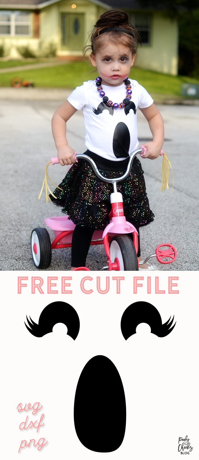 Girl Ghost cut file for Silhouette and Cricut.
