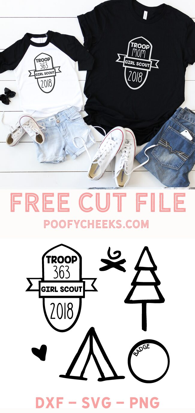 Girl Scout cut files for Cricut and Silhouette cutting machines. Grab the SVG, DXF and PNG files with girl scout shapes.