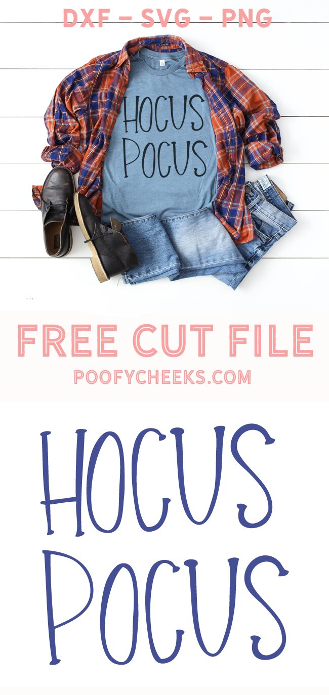 Hocus Pocus cut file for Silhouette and Cricut cutting machines.