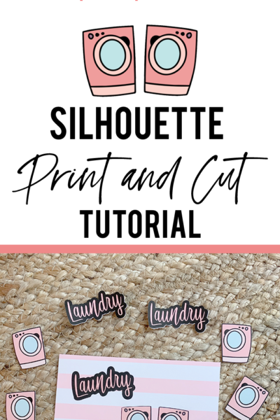 How to Use Silhouette Cameo Print and Cut Tutorial