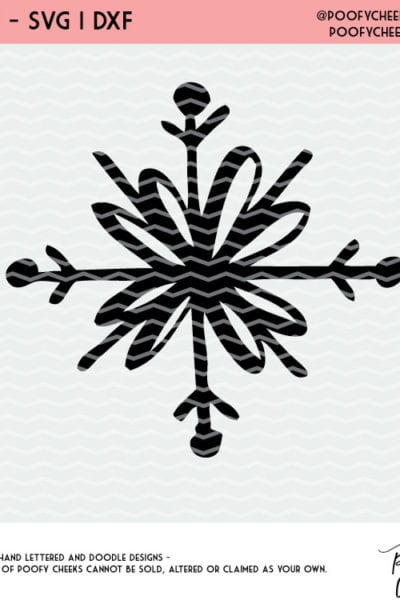 Doodle Snowflake Cut File – Flash Freebie for Silhouette and Cricut – DXF, PNG and SVG