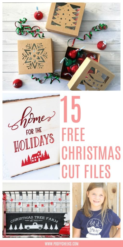 15 Free Christmas Cut Files for Silhouette or Cricut Machines Poofycheeks.com