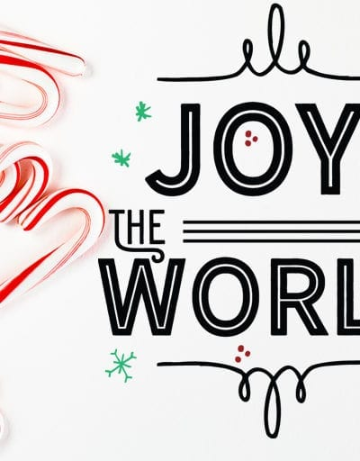 Modern Farmhouse Christmas Cut File – Joy to the World – SVG, DXF and PNG