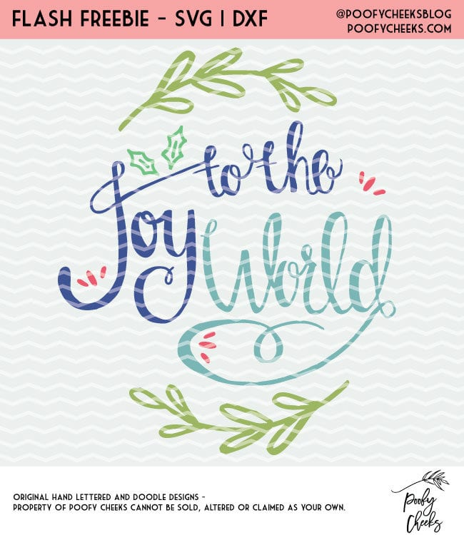 Joy to the World Cut File for Silhouette and Cricut cutting machines. DXF, PNG and SVG files as an instant download.