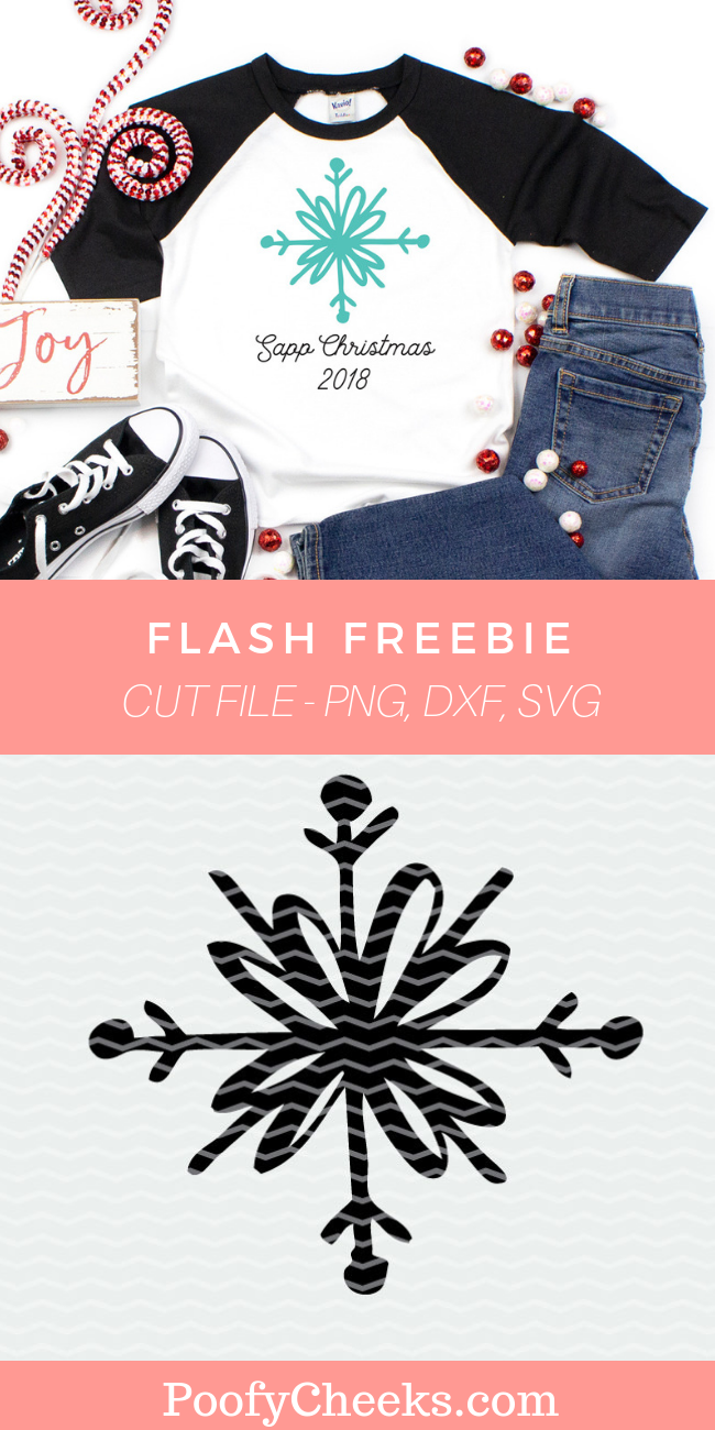 Snowflake Cut File - Flash Freebie - SVG, DXF and PNG file for Cricut and Silhouette cutting machines.