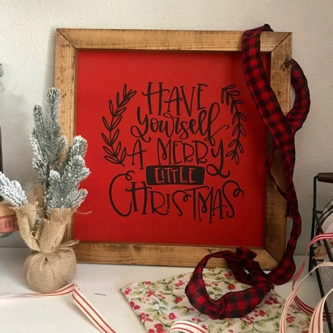 Have Yourself A Merry Little Christmas wooden sign.