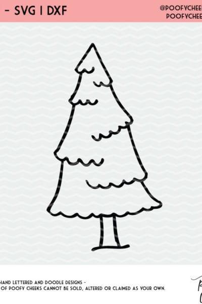 Free Christmas Tree Cut File – Silhouette and Cricut – Gift Tag Project Idea