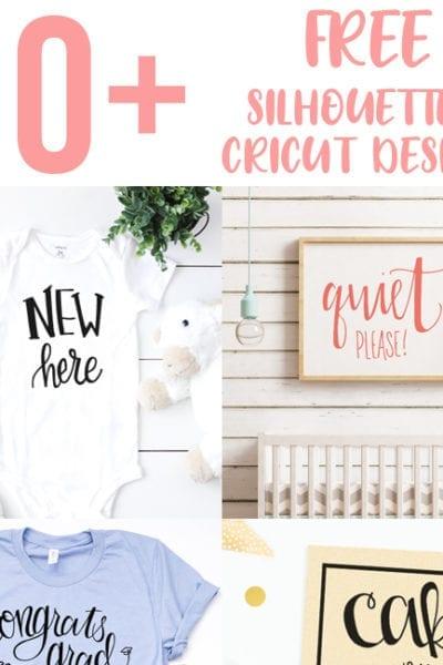 60 Free Silhouette and Cricut Designs