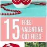 15 Free Valentine Cut Files for Silhouette and Cricut