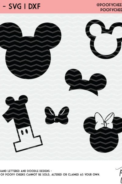 Disney Inspired Cut Files for Silhouette and Cricut – SVG, DXF and PNG