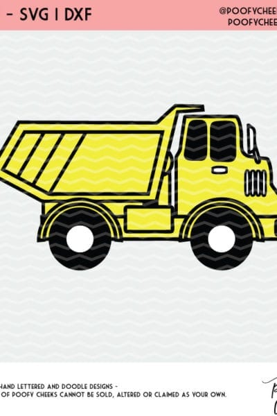 Dump Truck Cut File SVG for Silhouette and Cricut