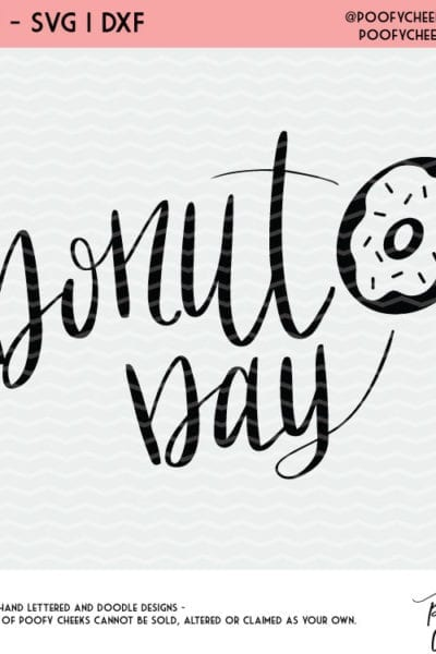 Donut Day Cut File – Free SVG, DXF, PNG for Silhouette and Cricut