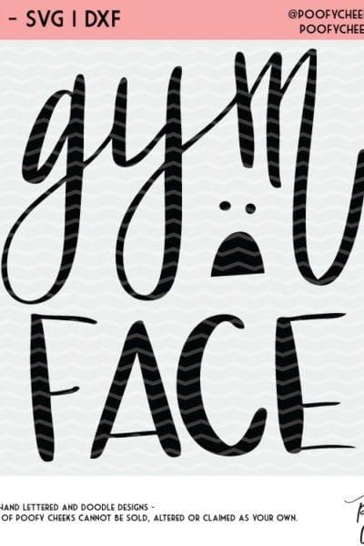 Gym Face Gym Shirt Cut File