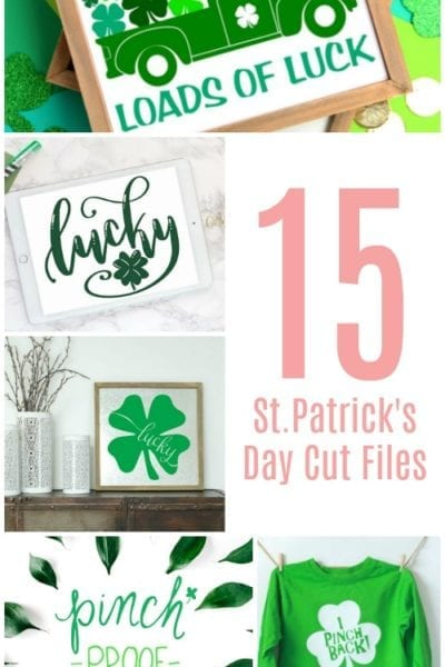 15 Free St. Patrick's Day Cut Files for Silhouette or Cricut
