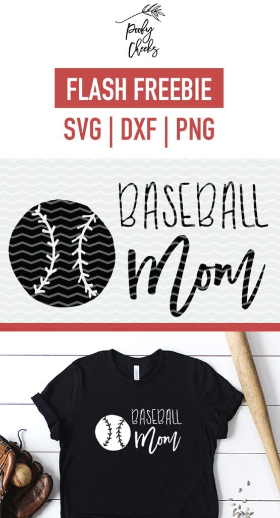 Baseball Mom cut file for Cricut and Silhouette cutting machines. SVG, DXF and PNG files.