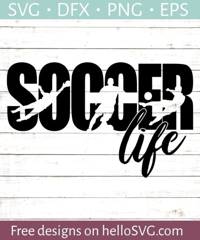 15 Free Soccer Cut Files for Silhouette or Cricut from Poofycheeks.com