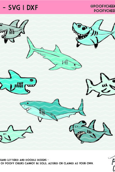 Shark SVG, DXF and PNG Bundle – Cricut and Silhouette Cut File