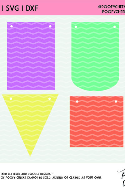 Banner Cut File Shapes- Paper Banner Tutorial – SVG, DXF, PNG