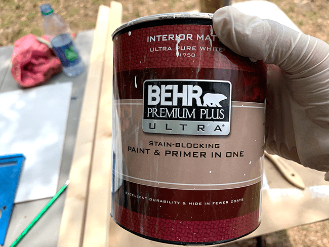 Behr latex paint for DIY sign.