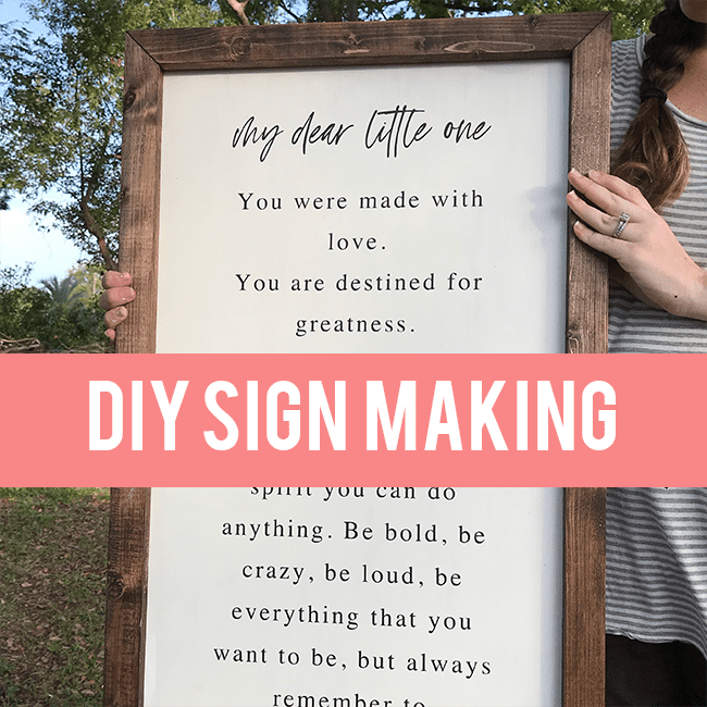 DIY Farmhouse Sign Making Tutorial
