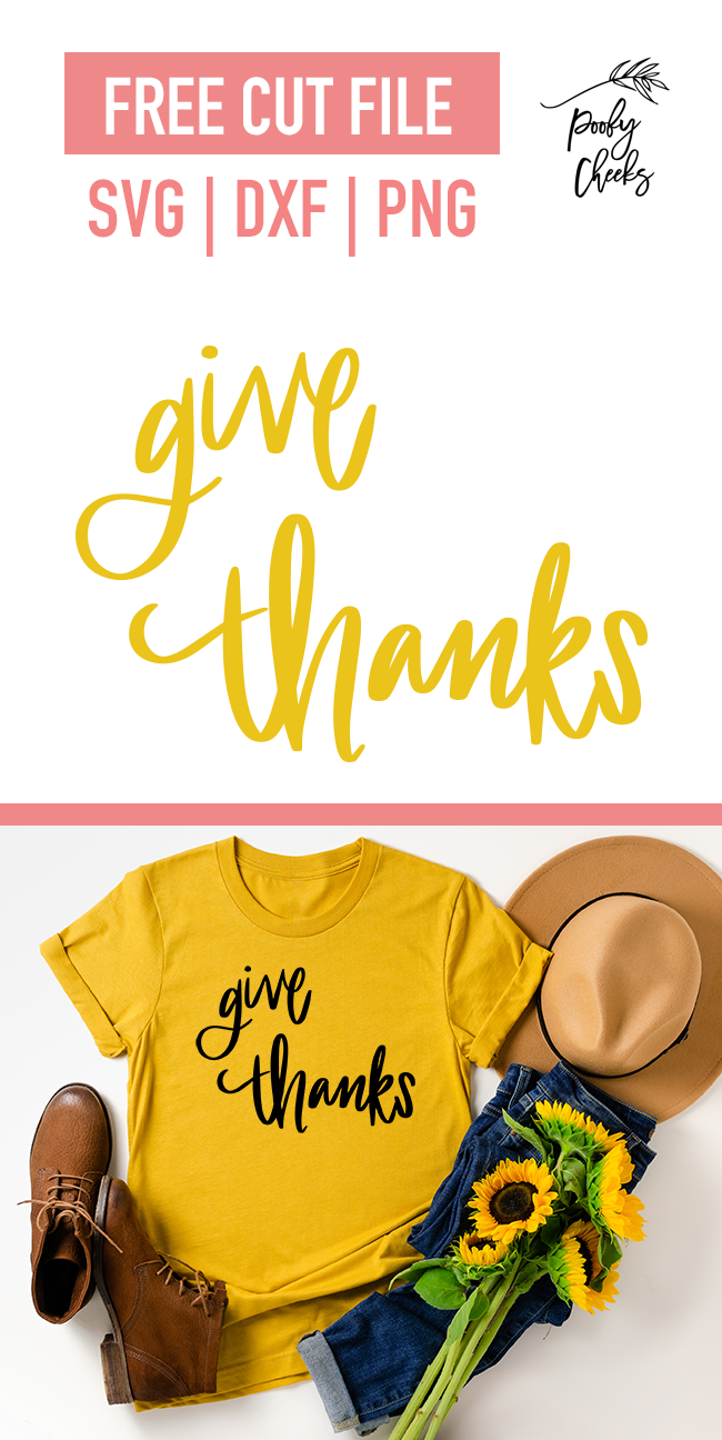 Give thanks cut file design