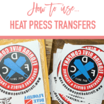 How to use heat press transfers.