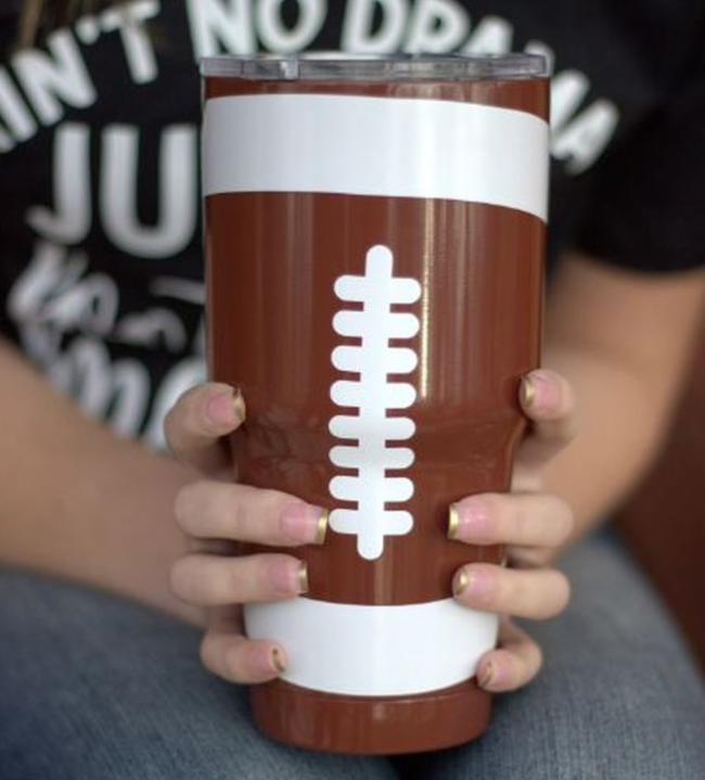 Football Drinking Tumbler - 30oz